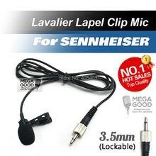 Lavalier profesional de solapa Tie Clip de micrófono condensador cardioide para Sennheiser inalámbrico transmisor de cuerpo 3.5 mm con cerradura