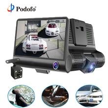 Podofo 4,0 »3 Way Видеорегистраторы для автомобилей Камера видео Регистраторы заднего вида авто регистратор ith два Камера s видеорегистратор DVRs Двойной объектив подставка держатель