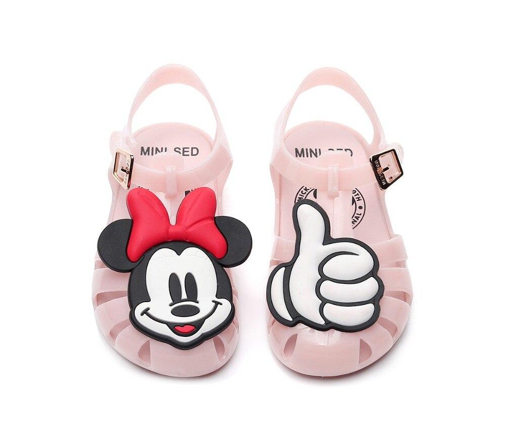 e2bcf13b01d3d Mini Melissa Mickey   Minnie sandales pour enfants pantoufles 2019 été  garçons filles sandales enfants glisser