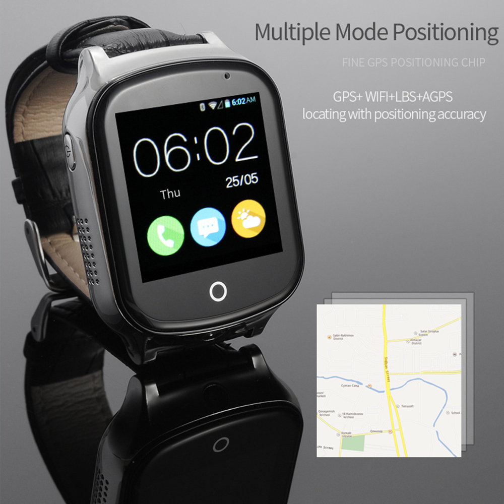 A19 Intelligente orologio Anziani Bambini Orologio Da Polso 3G WIFI GPS Locator Tracker Bambino intelligente SOS LBS Vigilanza Con La Macchina Fotografica Per IOS Android Phone