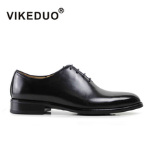 Vikeduo/Мужская официальная оксфордская обувь из натуральной кожи; Черная модная офисная Свадебная деловая мужская модельная обувь; обувь Блейк патина