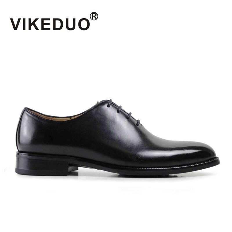 Vikeduo hommes Formelle Oxford Chaussures En Cuir Véritable Noir De Mode Bureau De Mariage D'affaires Mâle chaussures habillées Blake Patine Chaussures