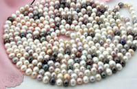 FREE SHIPPING>>>@@ > 3391 white black pink fw pearl necklace