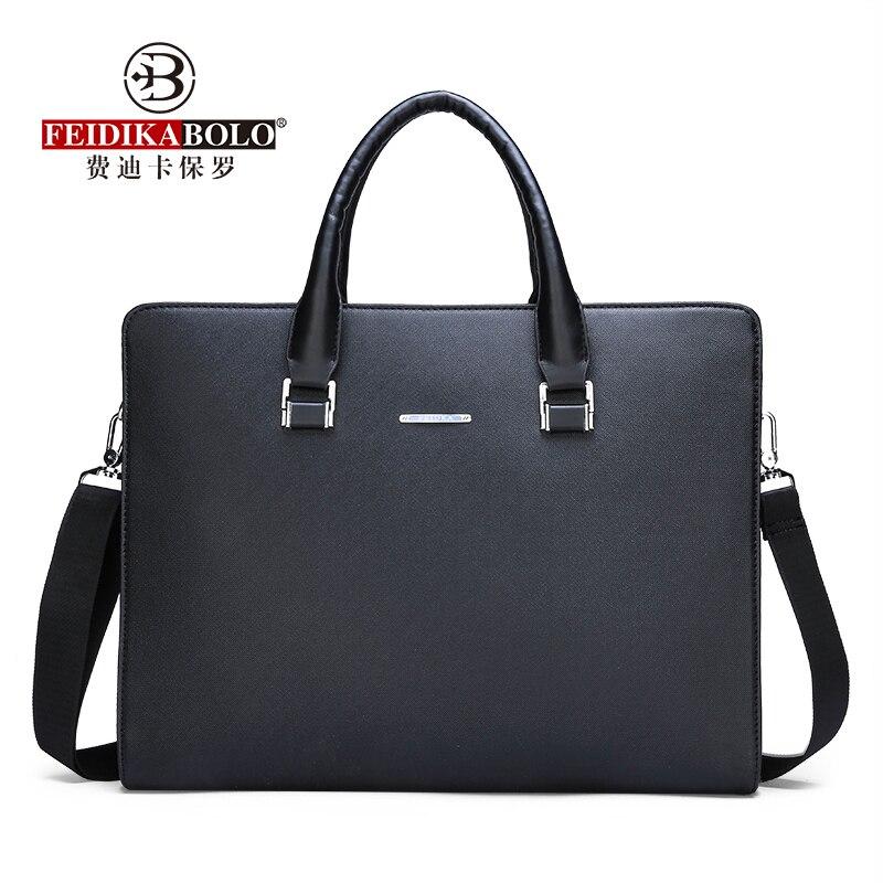 FEIDIKABOLO High-Quality Fabric Bag Men's Horizontal Handbag New Fashion Computer Bag High Quality Casual Shoulder Messenger Bag