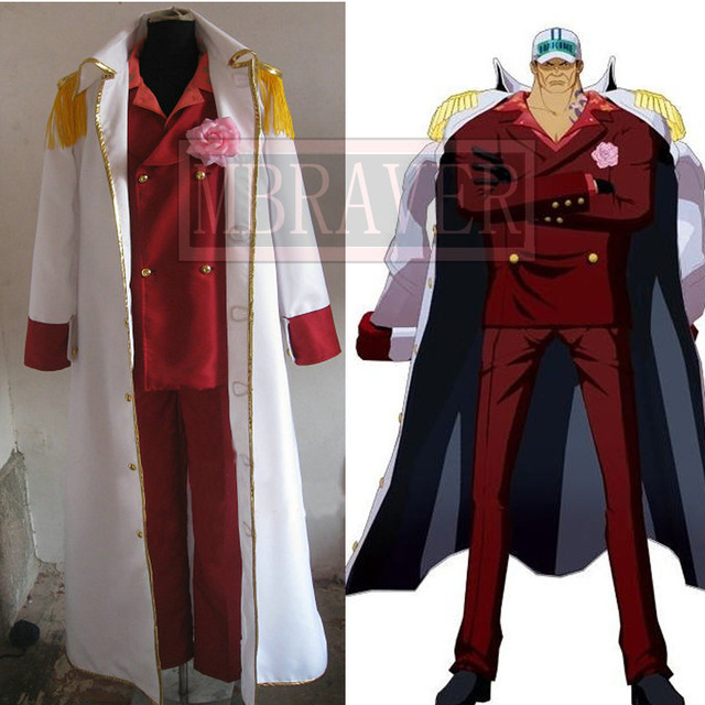 Us 96 0 Anime One Piece Marines Admiral Sakazuki Admiral Akainu Whole Set Cosplay Costume With Red Suit In Anime Costumes From Novelty Special Use
