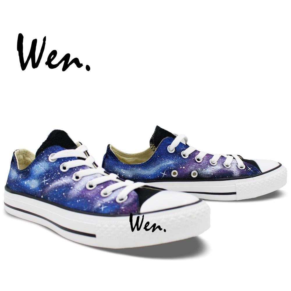 Wen Izvorni ručno oslikane cipele Dizajn Custom Blue Starlight - Tenisice - Foto 4