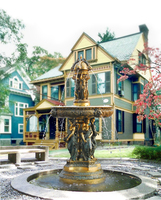 87 Размер жизни в европейском стиле бронзовая статуя скульптура для фонтана большая вилла наружное украшение сада