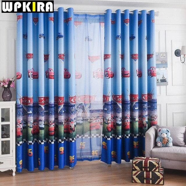 Fenster Auto Vorhang Wohnzimmer Jungen Kinder Cartoon Blau