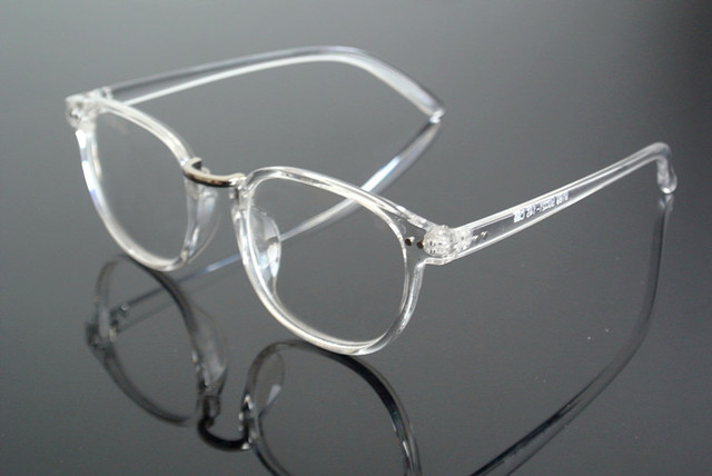 Hot Sale Transparent Silver Eyeglass Frame Clear Glasses Full Rim ...