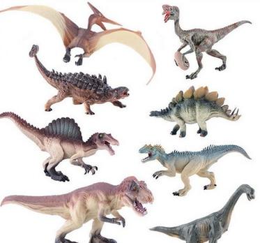 8 verschillende soorten dinosaurus speelgoed plastic speelgoed