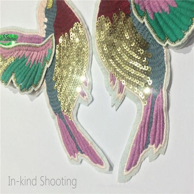 Tienda Online 1 par exquisito lentejuela bordado colibrí Parches ...