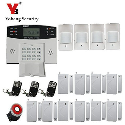 YobangSecurity Wireless Wired GSM Home Burglar Security Alarm System Russian Spanish Voice 433MHz Door Detector PIR Sensor yobangsecurity touch keypad wifi gsm gprs home security voice burglar alarm ip camera smoke detector door pir motion sensor