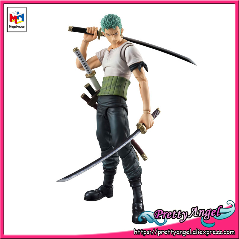 PrettyAngel - Genuine MegaHouse Variable Action Heroes ONE PIECE Roronoa Zoro PAST BLUE Action Figure 1