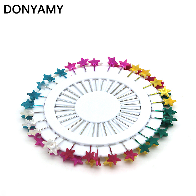 60Pcs Five Star Dressmaking Pearl Decorating Sewing Pins For Home Garden DIY Crafts Tool Random Color best girl toys 2017