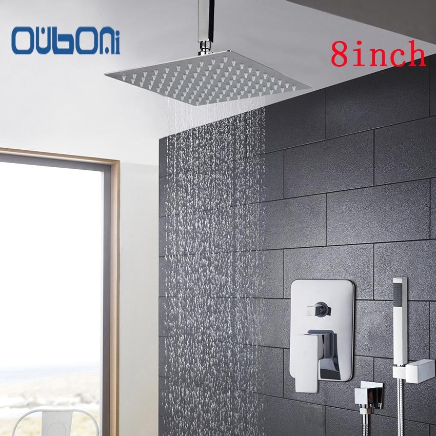OUBONI New Arrival Bathroom Shower Set 5 Years Warranty Bath Shower Mixer Faucet Ceiling 8