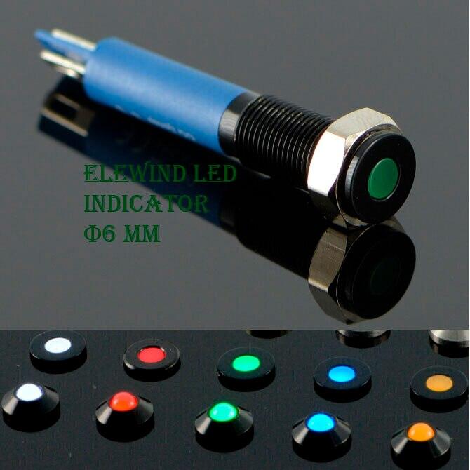 6mm Black Waterproof IP67 LED Indicator Light  (New)(PM06F-D/G/12V/A)