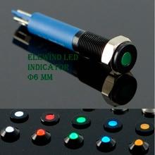 6 мм черный водонепроницаемый IP67 светодиодный индикатор (Новый) (PM06F-D/g/12 В/A)