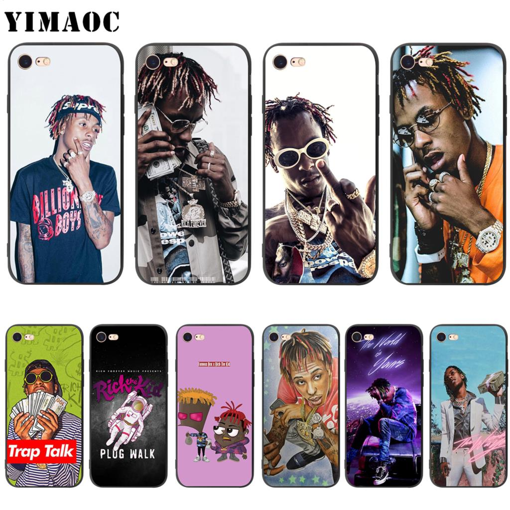 new style aa3ca eb5de US $2.5 24% OFF|YIMAOC Rich the Kid Soft Silicone Case for iPhone XS Max XR  X 8 7 6 6S Plus 5 5s se-in Fitted Cases from Cellphones & ...