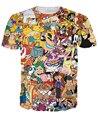 Nueva moda sexy totalmente 90 s explosión de dibujos animados camisetas Harajuku camisetas Casual 3D de caracteres camisetas Hip Hop Top Tee