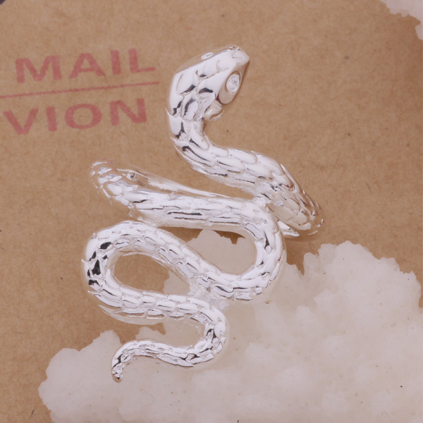 AR273 Stříbrný prsten 925 mincovní stříbro, 925 stříbrných módních šperků, had / anmajeta amjajdqa