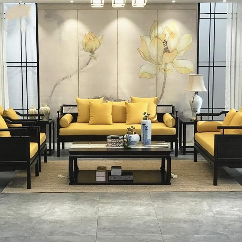 nouveau style chinois en bois massif canape modele chambre moderne tissu canape combinaison neoclassique zen villa meubles personnalisable