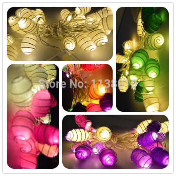 Battery powered Real cocoon led String Fairy Lights night Light 2.5m multicolor/ white/ purple/ gree
