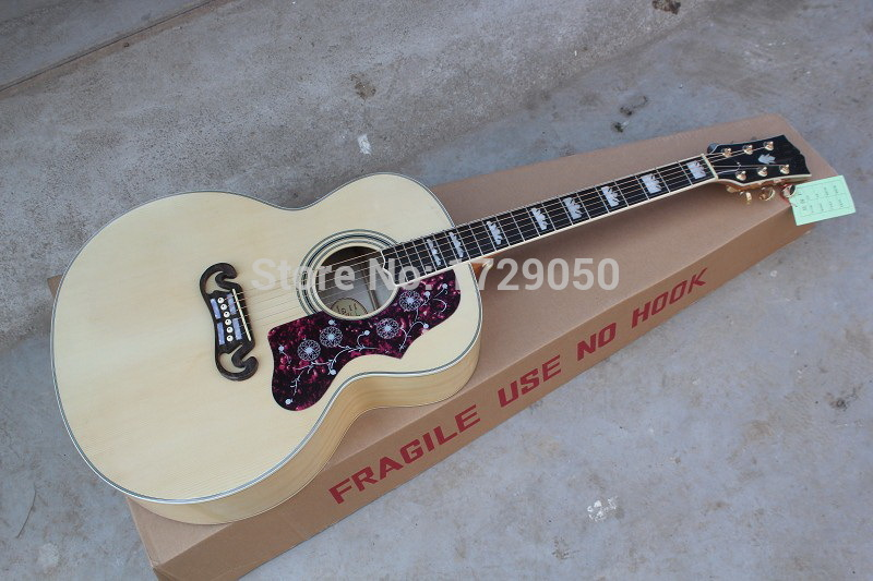 Free Shipping top quality factory custom 43 inches jumbo acoustic guitar j200 model natural color with EQ Classic Guitar 11 12 vegas left hand natural color acoustic electric guitar free bag free shipping