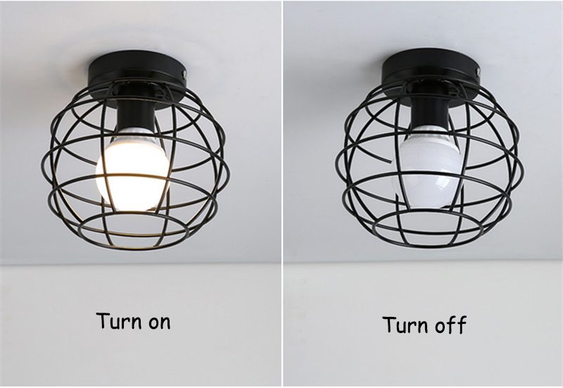 HTB150S3I4YaK1RjSZFnq6y80pXa1 Modern nordic black wrought iron E27 led ceiling lamps for kitchen living room bedroom study balcony porch restaurant cafe hotel