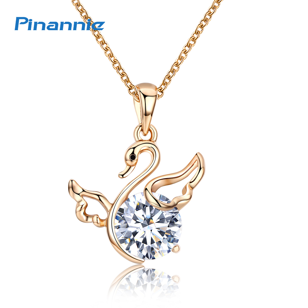 Pinannie Champagne Gold Color Swan Pendant Necklace Jewelry for Women  Colares Jewellery Party Gifts-in Pendant Necklaces from Jewelry &  Accessories on ...