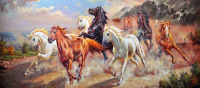 Needlework Picture Of Diamonds Painting Horse Run Diy Mosaic Diamond Embroidery Animals 5d With Colored Rhinestones