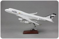 47cm Resin Iran Airlines Airplane Model Boeing 747 400 Diecast Aviation Model B747 EP IAG Airways Aircraft Scale Diecast Model