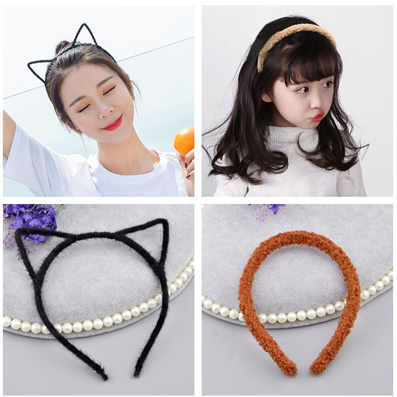 Bright Fashion 1pc Women Lady Cute Cat Ear Design Hairbands Girls Lovely Headbands Rabbit Ear Fleece Kids Hair Accessories A10 Girl's Accessories Apparel Accessories