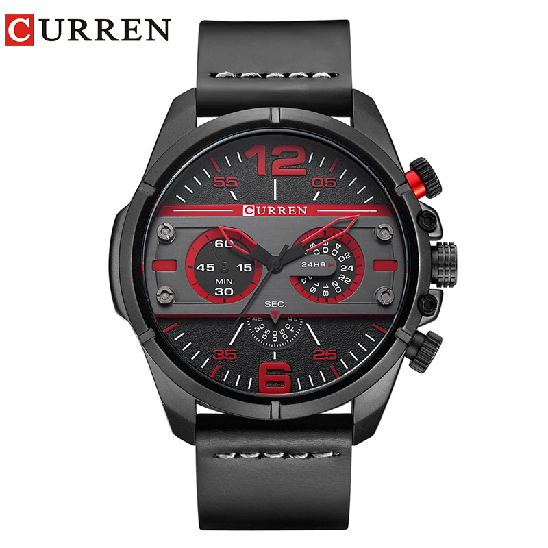 CURREN 2017Men Watch Luxury Brand Army Military Watch Men Leather Sport Watches Quartz Waterproof Wristwatch relogio mascul 8259