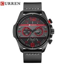 CURREN 2017 для мужчин часы Элитный бренд армия военная Униформа часы для мужчин кожа спортивные часы кварцевые непромокаемые наручные часы relogio mascul 8259