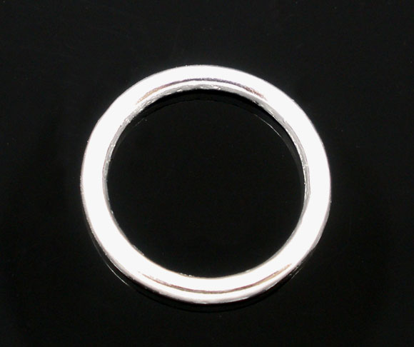 DoreenBeads Zinc Metal Alloy Closed Soldered Jump Rings Round Silver Plated 14mm( 4/8