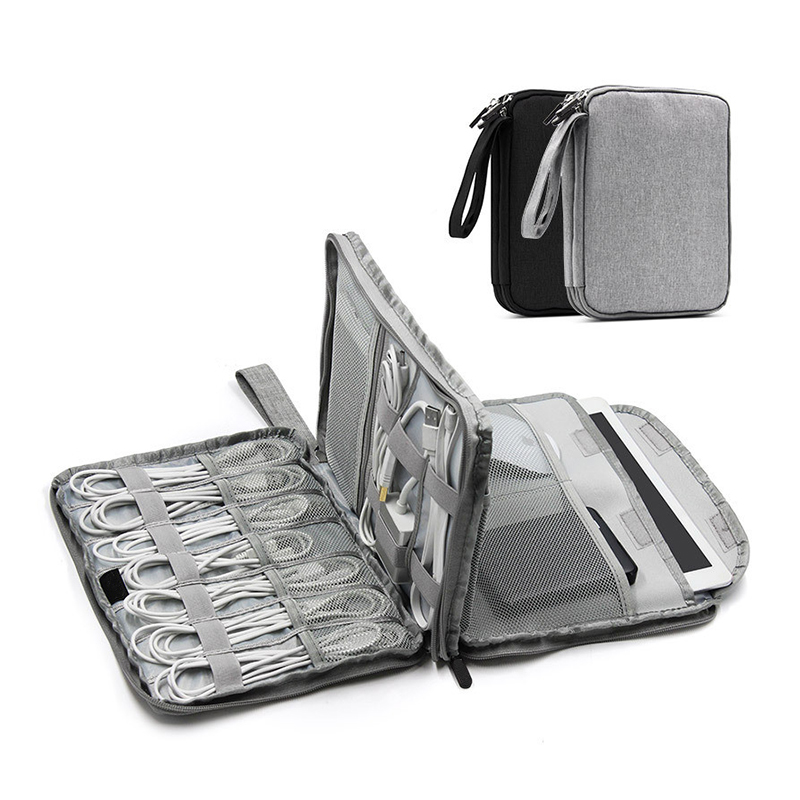 Travel Digital Bag USB Data Cable Earphone Wire Pen Power Bank Organizer Portable Travel Zipper Kit Gear Case Accessories
