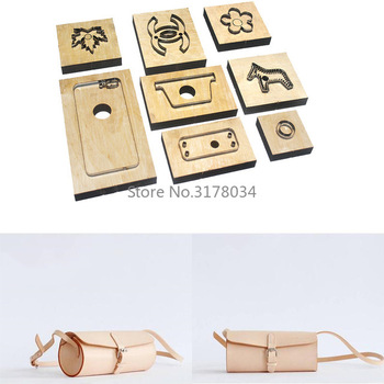Japan Steel Blade Rule Cutting Dies Punch Shoulder Bag Cutting Mold Wood Dies Cutter for Leather Crafts 240x110x110mm