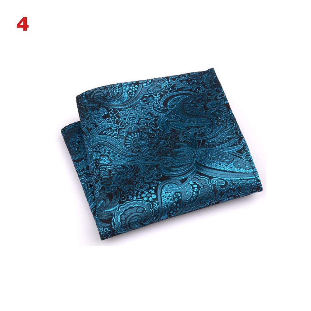 Vintage Men British Design Floral Print Pocket Square Handkerchief Chest Towel Suit Accessories LXH