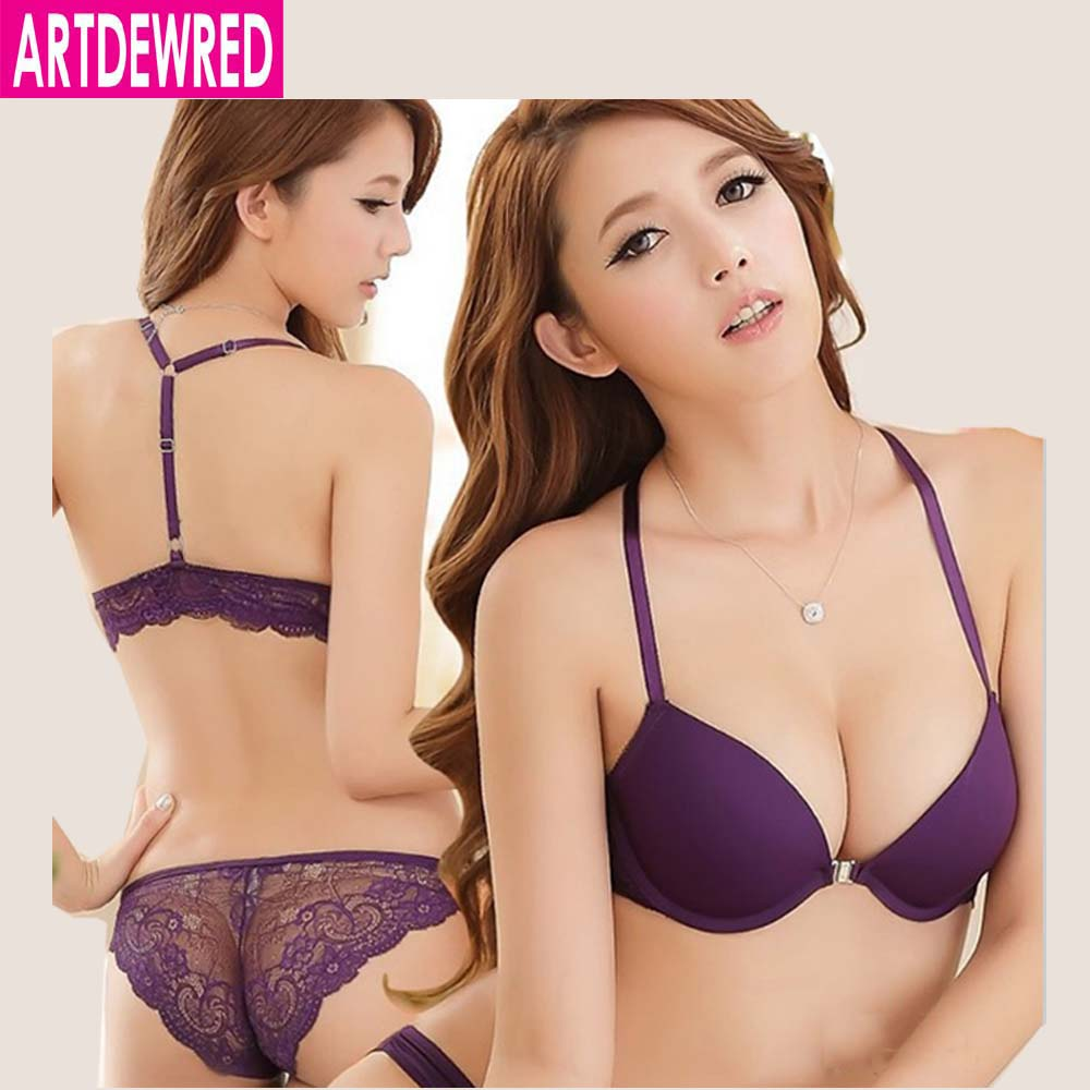 New 2018 Luxurious Elegance Vs   Bra   And Panty   Set   Y-line Underwear   Set   Female Sexy Lace Brand Push Up Secret Women   Bra     Set