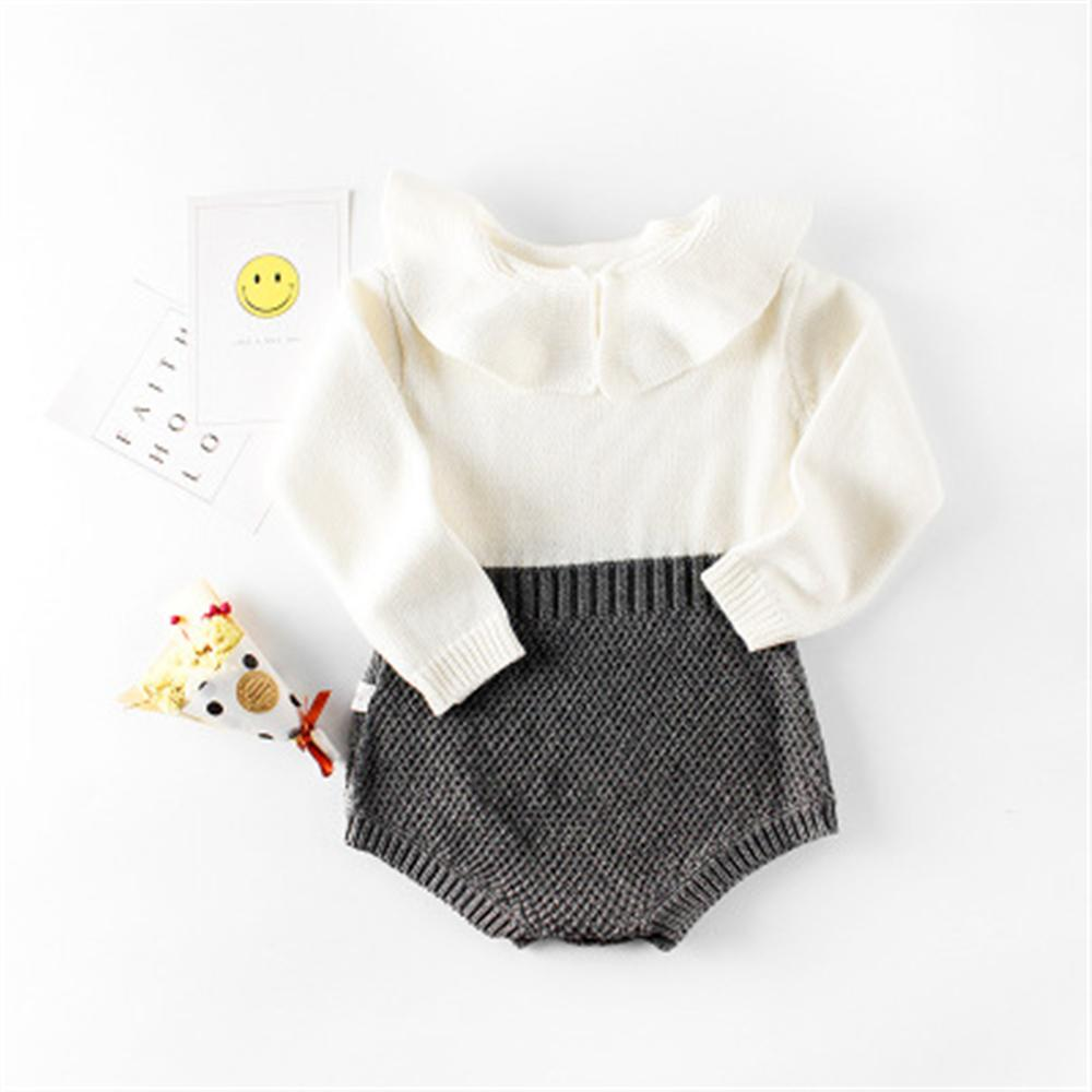 Baby Girl Clothes 2018 New Spring Autumn Baby Rompers For Girl Newborn Knitted Cotton Jumpsuit Infant Children Clothing warm thicken baby rompers long sleeve organic cotton autumn