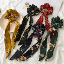 Женские резинки для волос с принтом, эластичная лента для волос, Бабочка, веревки для волос, милые женские резинки для волос diademas para el pelo mujer, аксессуары для волос для девочек