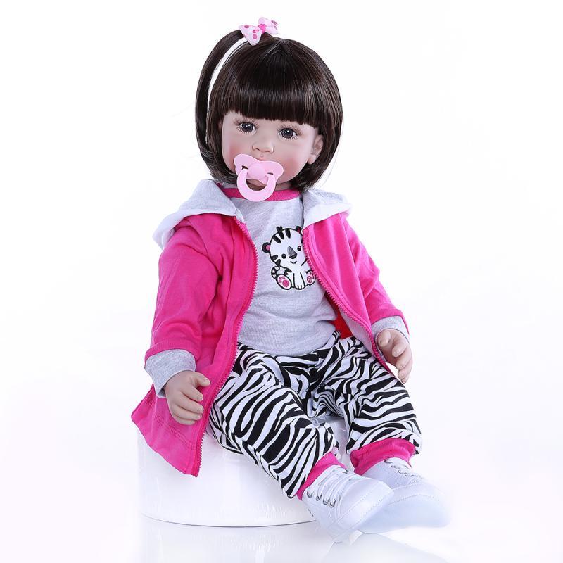 60CM réaliste Reborn enfant en bas âge Bebe poupée Reborn bébé doux Silicone vinyle peluche corps noël lol poupées surprise Brinquedos