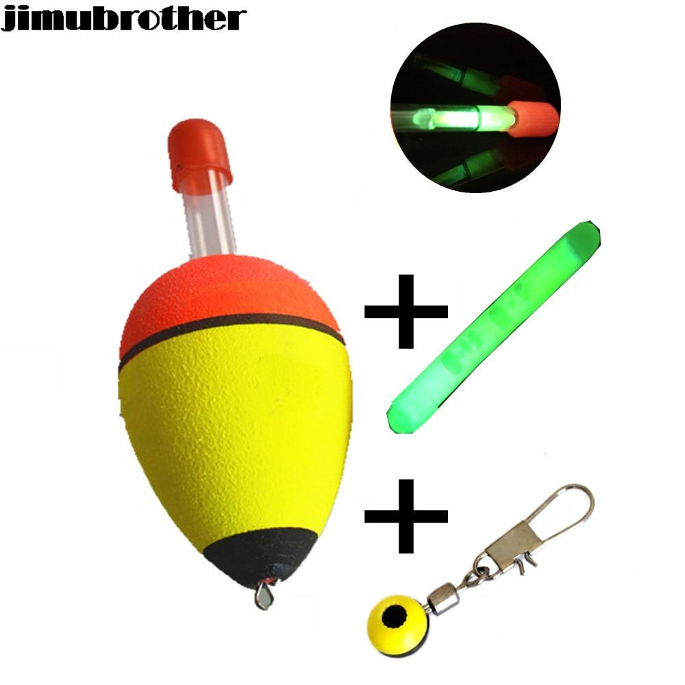 11cm fishing float boia foam type led light stick bobber for Fishing floats types