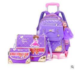 Dla dzieci torba szkolna na kółkach dzieci bagażu toczenia torby na kółkach torba plecaki dla dziewcząt podróży plecak na kółkach torby dla dziewczyn