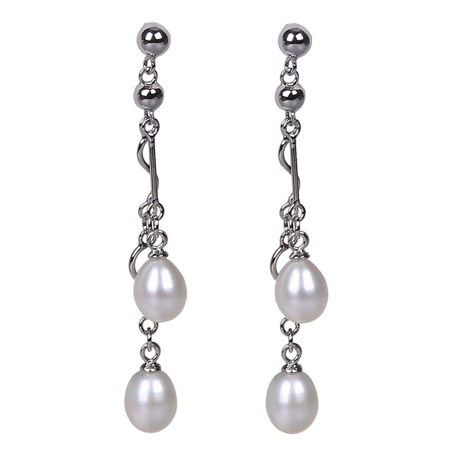 High Quality Freshwater Pearl Earring 925 Silver Long For Women Gifts
