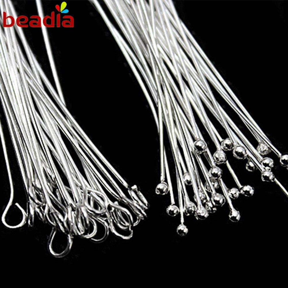 0.8/mm protezione rotonda filo di perline in argento Sterling 925/ 1/M
