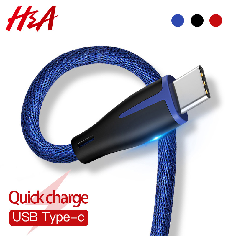 H&A Fast Charging USB Type-C Data Cable For Samsung Galaxy S9 S8 Plus Note 9 Charge Cables