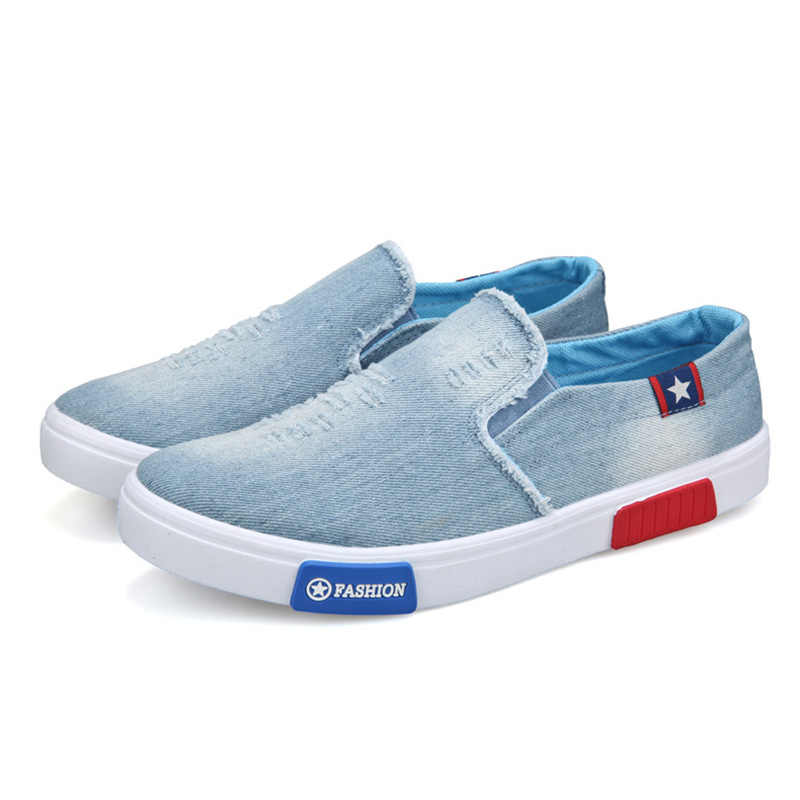 c74a369e166f38 ... fashion jeans canvas loafer shoes men casual boat shoes breathable  summer spring autumn footweats high quality