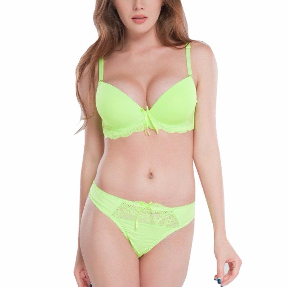 NEW Panties Female Push Up Bra Set And Women Underwear Solid Vs Bra Thong Sets Sexy Plus Size Lingerie Suit Lace Bra Y3