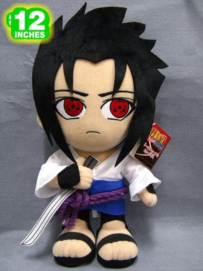 "Free Shipping 12"" Japanese Anime Naruto Plush Toys Cute Uchiha Sasuke Dolls With The Sharingan Hot Stuffed Toys For Kids"